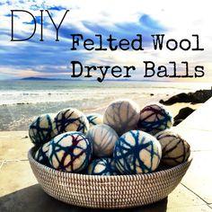 DIY Felted Wool Drye