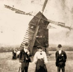Imbers windmill with the Cruse Family