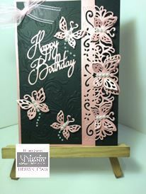 A5 card made with Crafter's Companion Die'sire Fancy Edge'ables – Papillon. Designed by Debbie James #crafterscompanion