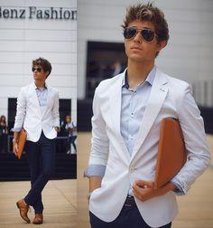 Adam Gallagher - Jogunshop Blazer, Jd Fisk Shoes - Mercedes Benz Fashion Week - Day 1   LOOKBOOK
