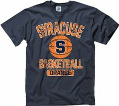 Syracuse Orange Navy Youth Ballin' T-Shirt by New Agenda. $14.99. Officially licensed. 100% cotton and rib knit collar makes it comfortable. Vintage look screen print graphic makes it cool. Even the smallest of fans can have a fashion forward look while they cheer on their favorite team in this Syracuse Orange Navy Youth Ballin' T-Shirt. Made from 100% cotton, this super comfy and soft tee has a rib knit collar, and features a distressed Orange word mark and graphic. *Vinta...
