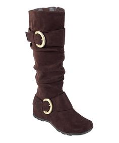 Take a look at this Journee Collection Brown Jester Boot today!