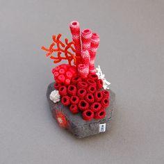 Coral inspired fiber sculpture