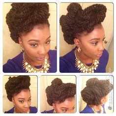 We love how @nappturallychicjere got creative to achieve this gorgeous updo! #naturalhair #teamnatural #naturalista #afrohair #naturalhairstyles #curlyhair #kinkyhair #coilyhair #naturalhairstyles #naturalhairinspiration #nhdaily #naturalhairdaily...