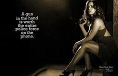 A gun in the hand.....