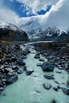 Glacial Runoff, Hooker Valley of Aoraki / Mt. Cook National Park, New Zealand