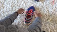 A mom shared a shoe-tying tutorial video that's gone viral with millions of…