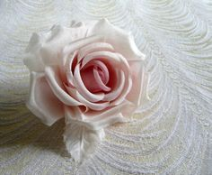 Blush Silk Millinery Rose Pink Ivory for Hats by APinkSwan on Etsy
