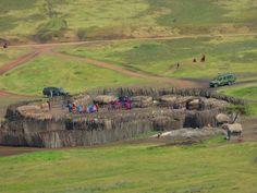 Massai village, Serengeti National Park