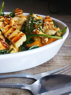 Soup And Salad, Pasta Salad, Polish Recipes, Halloumi, Healthy Recipes, Healthy Food, Thai Red Curry, Grilling, Salads