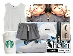 """""""~shein gray drawstring shorts contest"""" by sashaaxoxx ❤ liked on Polyvore featuring Casetify, MINKPINK and WithChic"""
