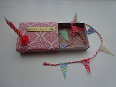 Matchbox. Party in a box. Made by Judith http://www.pinterest.com/ikinkholweg/