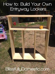 DIY Hallway Lockers ~ Organize~ Start with some premade furniture (IKEA?)