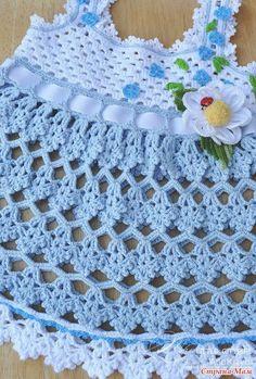 Lindo vestidinho de crochê para meninas - Gráfico (Esquema, Pattern) - Toda Moderna