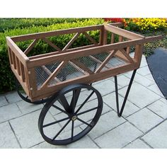 garden flower cart for sale | Outdoor Garden Flower Wagon Cart | Meijer.com