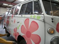 flower power VW from Catch the Bus restoration and sales