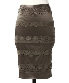 Take a look at this Olive Perfect Lace Skirt on zulily today!