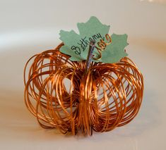 Teeny Tiny Pumpkin DIY Thanksgiving Place Card Tutorial