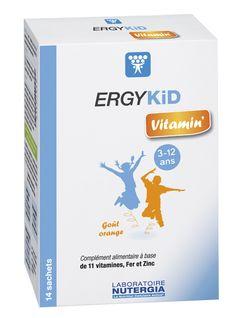 ergykid vitalidad de nutergia para casos de fatiga física o cansancio intelectual, convalecencia o problemas de concentración o alimentación de niños