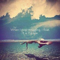 Float flow believe trust know