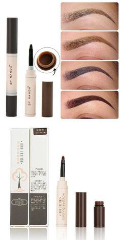 c99477a1d [Visit to Buy] 2016 Fashion Professional Eye Brow Dye Cream Pencil Long  Lasting Waterproof Brown Tint Paint Henna Eyebrow Set Makeup Kit