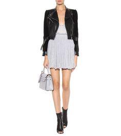 Alexander McQueen - Metallic silk mini dress - mytheresa.com