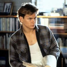 Running on Empty (1988).  River Phoenix wishes to create a new identity for himself, and knows the power of the library!