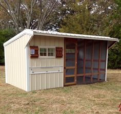 8'x16' Chicken Coop  ***add a barn sliding door to secure the open concept at night***