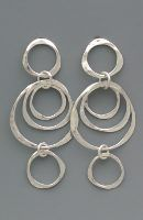 Three-tiered Sterling Circle Earrings by Peggie Robinson Designs (www.PeggieRobinsonDesigns.com) -- LOVE her stuff!