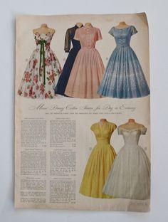 Vintage 1950s Dress Advertisement / Original by FoxyBritVintage