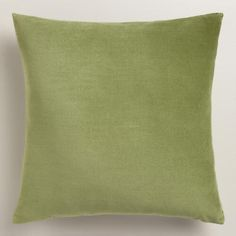 Crafted of luxurious cotton velvet, our green throw pillow is a classic accent for any room. Combine this exclusive accent with our other velvet pillows in an array of chic colors to refresh your decor instantly.