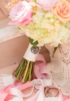 Add an Origami Owl Locket to your Bridal Bouquet. Memory Locket for Loved one who is not there for your special day. A gift from new husband on your wedding day. Order yours at: www.melissamccullough.origamiowl.com #origamiowl #bridal #bouquet #memory #locket  photography credit: Katelyn James Photography