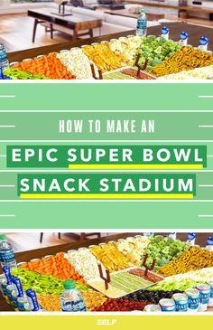 How to Make a #SuperBowl Snack Stadium! #DIY