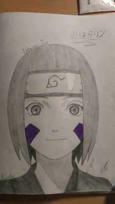 This is Nohara Rin from Naruto. Naruto Sketch, Naruto Drawings, Anime Drawings Sketches, Anime Sketch, Easy Drawings, Naruto Shippuden Sasuke, Naruto Kakashi, Boruto, Otaku Anime