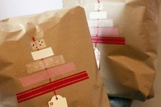 Washi Tape Gift Wrapping / Envolturas  (washitapemexico for the tapes)