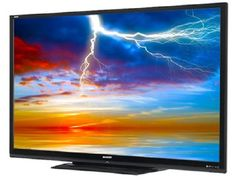 """The Largest LED TV in America now here in Appliance Center Home Store!  80"""" Sharp Quattron Smart 3D LED TV."""