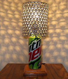 Mountain Dew Soda Can Lamp with Pull Tab Lampshade - The Dorm Room Essential