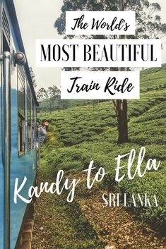 SRI LANKA TRAVEL・Everything you need to know about taking the world's most beautiful train ride from Kandy to Ella. World's Most Beautiful, Train Rides, Asia Travel, Studying, Sri Lanka, Need To Know, Postcards, Travel Inspiration, Travel Destinations