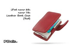 PDair iPod nano 8th / nano 7th Leather Book Case (Red)