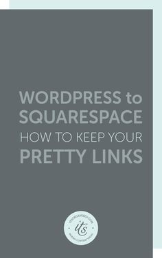 If you are moving your website from Wordpress to Squarespace and have been using the Pretty Link plugin, you don't have to lose all those lovely inbound links you've created. You can keep your Pretty Links intact by using the URL Mappings facility on Squarespace. Today's video tutorial will show you how.  itsorganised.com video tutorial