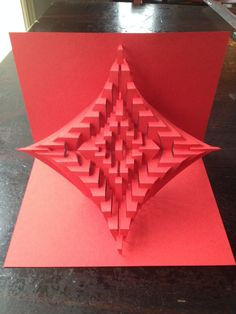 DIY Plantilla Astroid Anillos Kirigami escultura de papel por Ullagami
