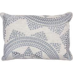 Melanie Embroidered Pillow in Grey  at Joss and Main