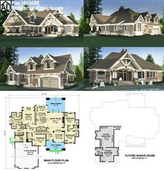 Architectural Designs House Plan 14636RK looks great from every angle. This highly-detailed Craftsman rambler gives you over 2,300 square feet of living all on one floor. And it also delivers bonus space over the garage for expansion purposes. Ready when you are. Where do YOU want to build?