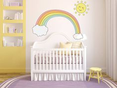 pastel rainbow promise wall stickers by parkins interiors | notonthehighstreet.com
