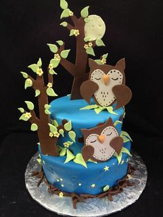Owl Tiered Cake by bluecakecompany, via Flickr