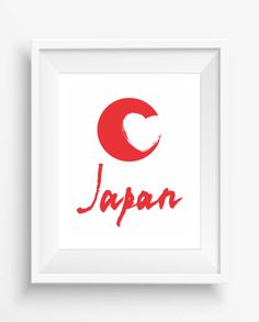 "Japan,color of the japanese flag,Digital art print,Wall art ,home decor,office decor,Jpeg,300 dpi,8""x10"" high resolution"