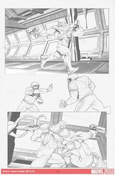 Venom: Space Knight #1 preview pencils by Ariel Olivetti
