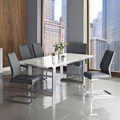 Save money on Alexia Extendable Dining Table by Creative Furniture Counter Height Dining Table, Solid Wood Dining Table, Dining Table In Kitchen, Extendable Dining Table, Dining Table Chairs, Dining Room, Furniture Sale, Dining Furniture, White Dining Set
