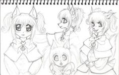 Kitten Sketchbook Page by GothicKitty3