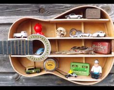Guitar shelf 9 with L. Wall mounted custom by aRRtstudios